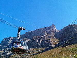 cable car, table mountain